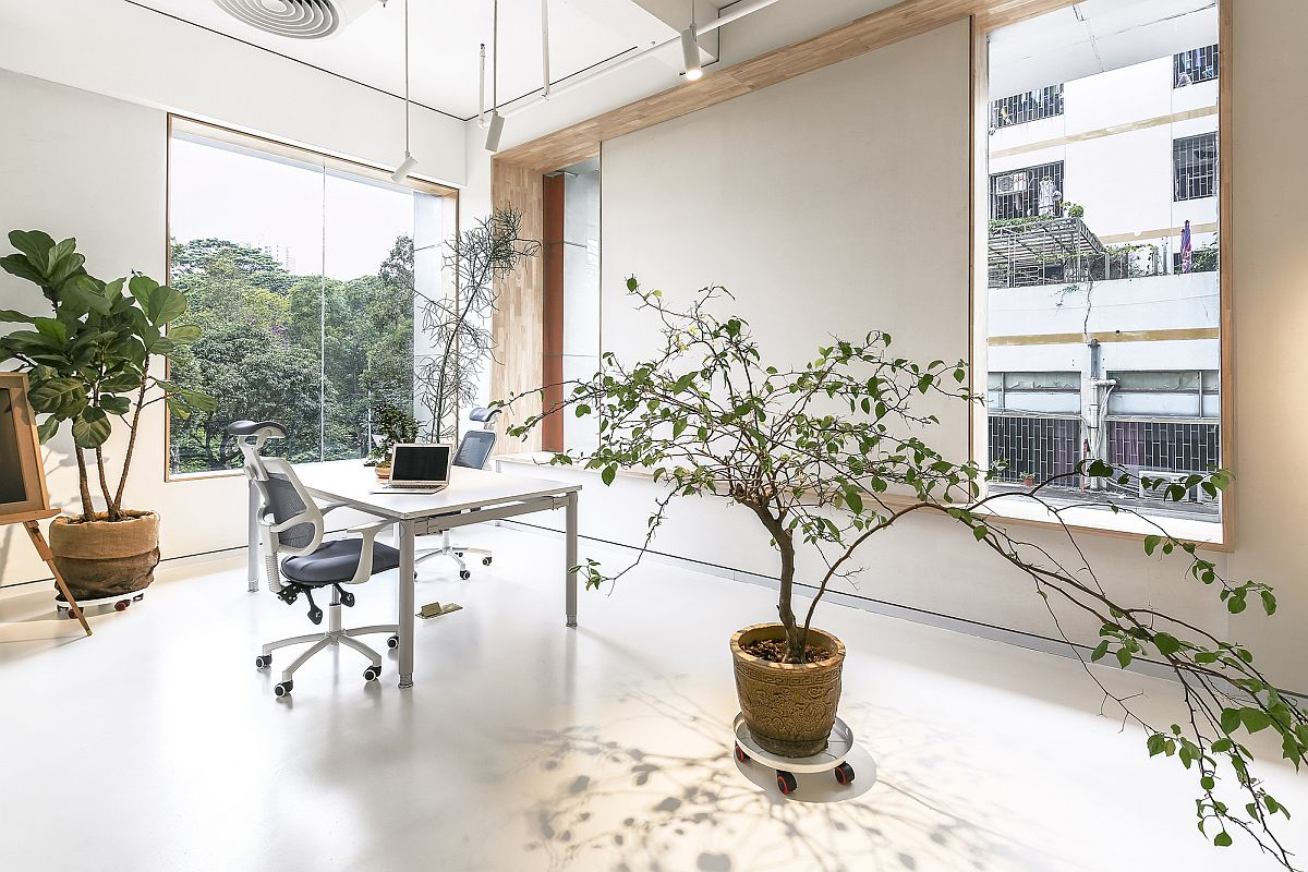 Relaxing modern office in white in Shenzhen, China