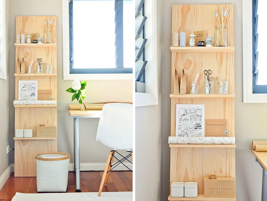 Scandinavian style corner wooden shelf DIY