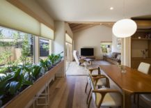Series-of-plants-in-the-dining-room-bring-greenery-to-the-modern-Japanese-home-217x155
