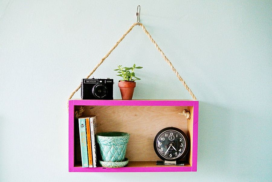 Simple and elegant wooden box bookshelf