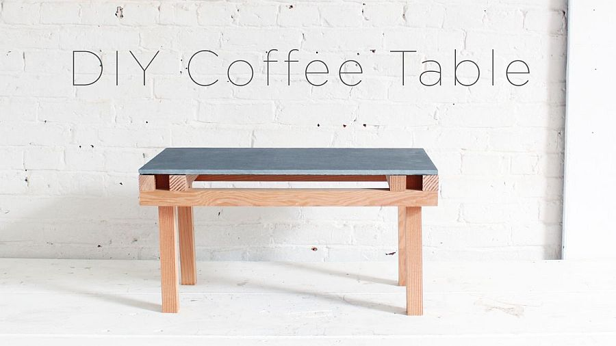 Simple and minimal DIY tile coffee table