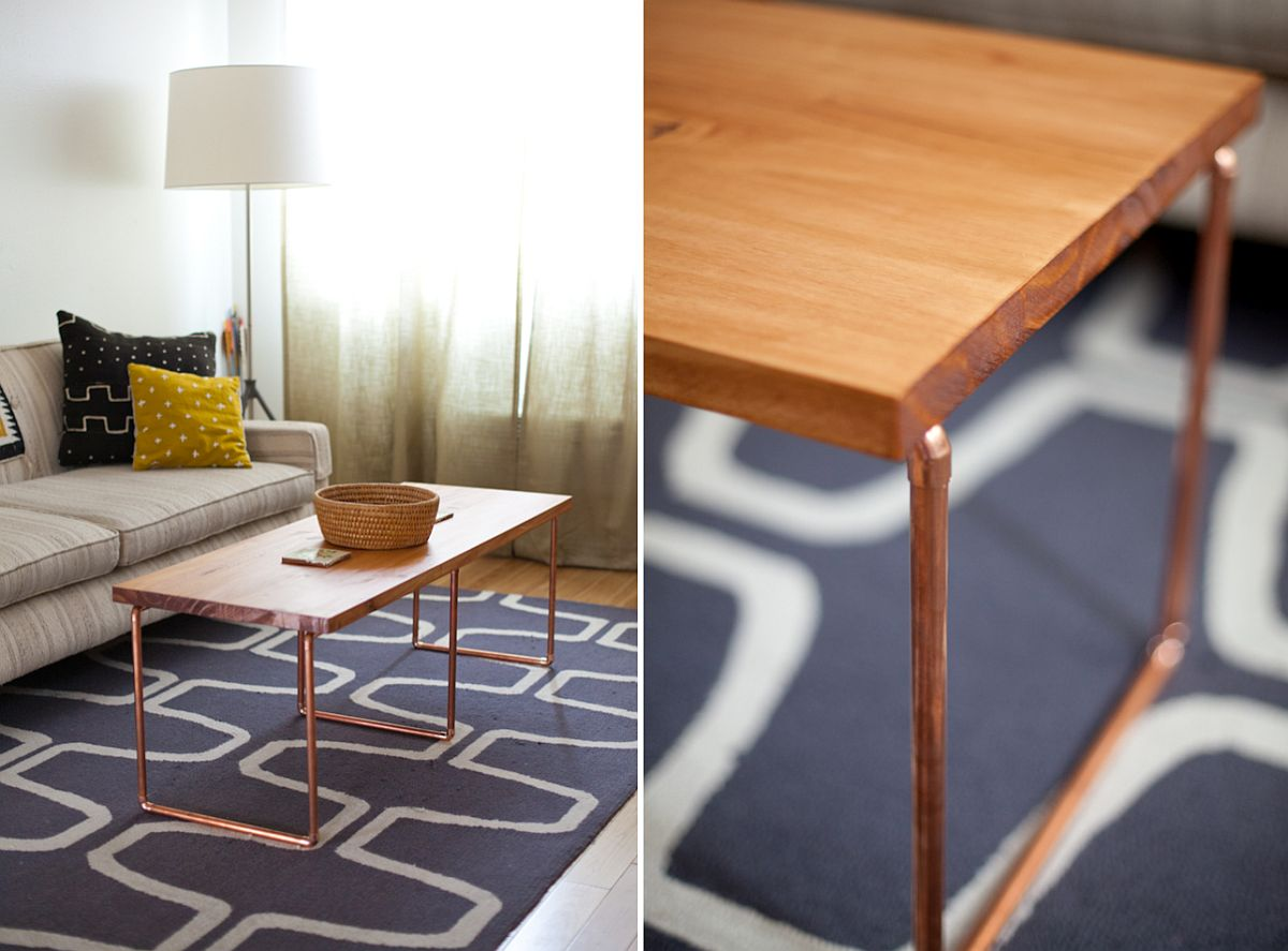 ... Coffee Table With Hairpin Legs View In Gallery Slim ...