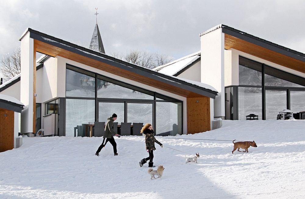 Snow-covered landscape around Villas Winterberg
