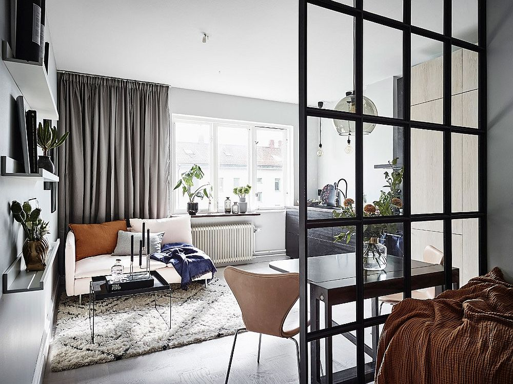 Scandinavian Style Maximizes Space Inside Tiny 26 Square Meter Apartment