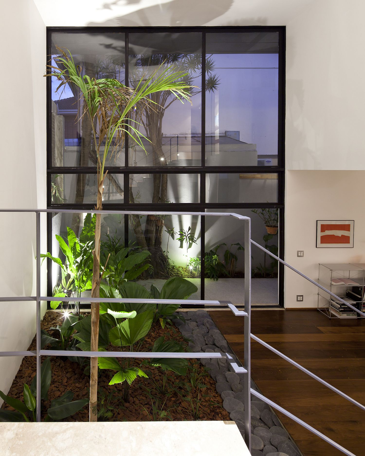 Splashes of greenery inside the Sao Paulo home