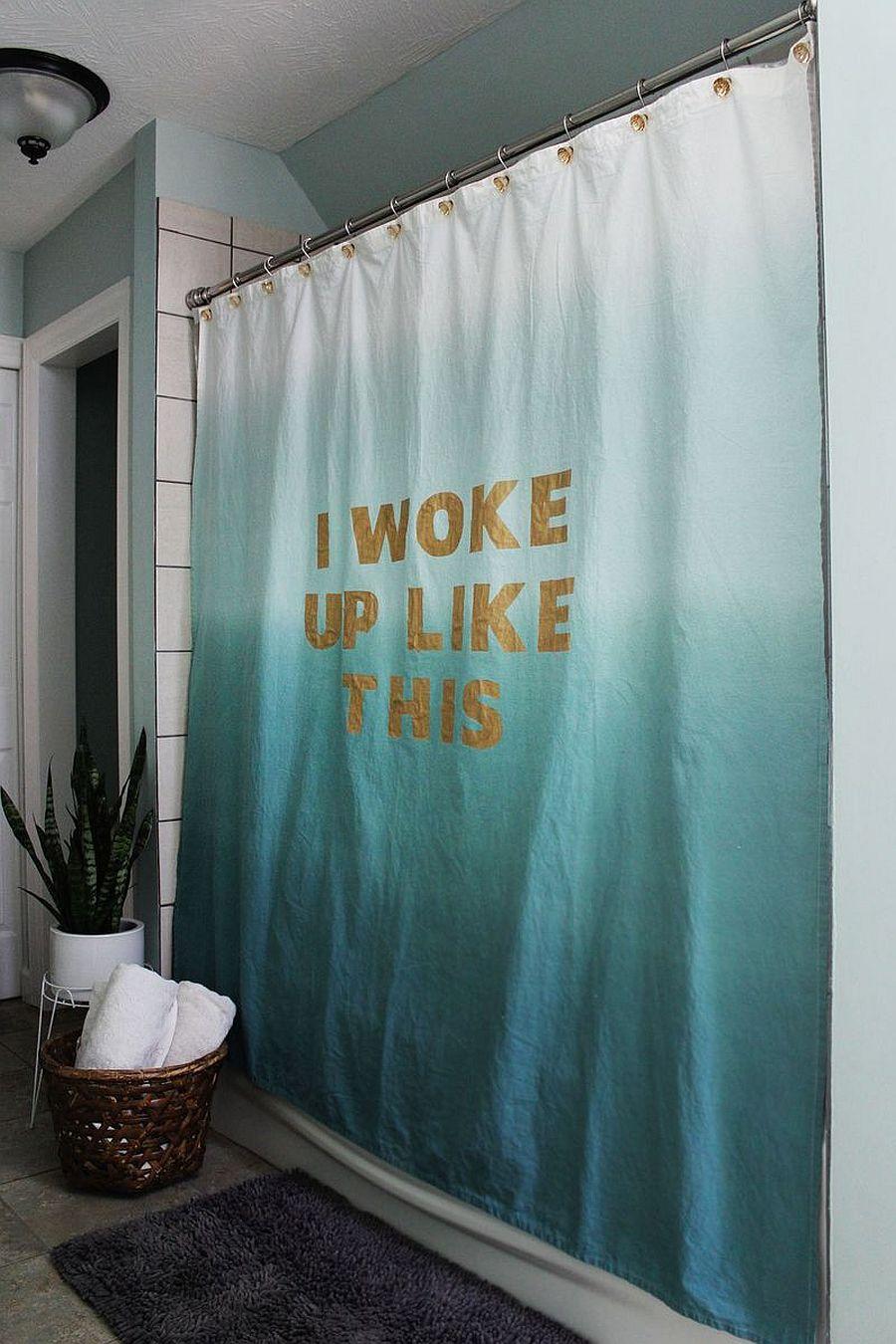 View In Gallery Statement DIY Shower Curtain
