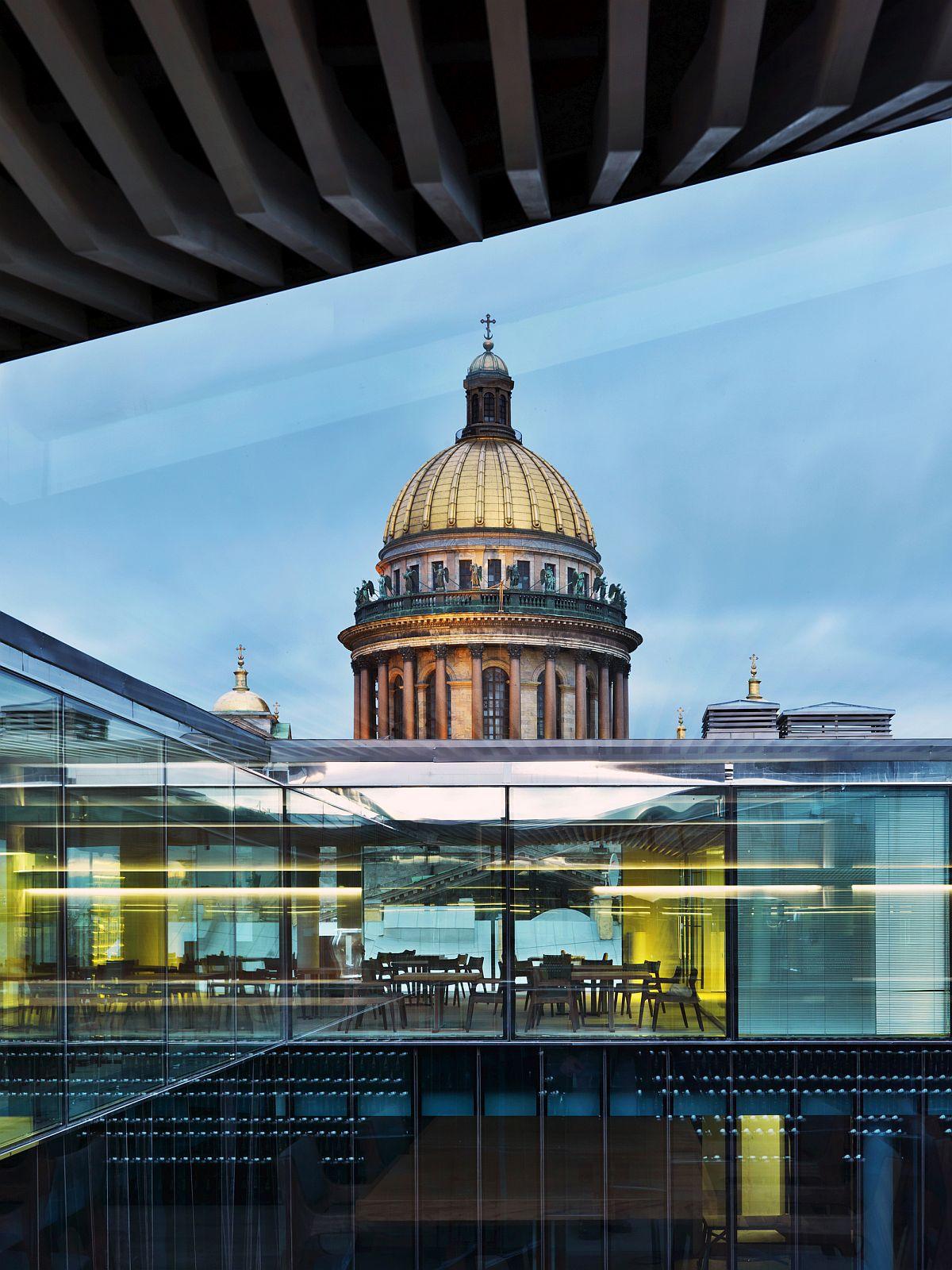 Stunning Mansarda Restaurant in St. Petersburg with views to match