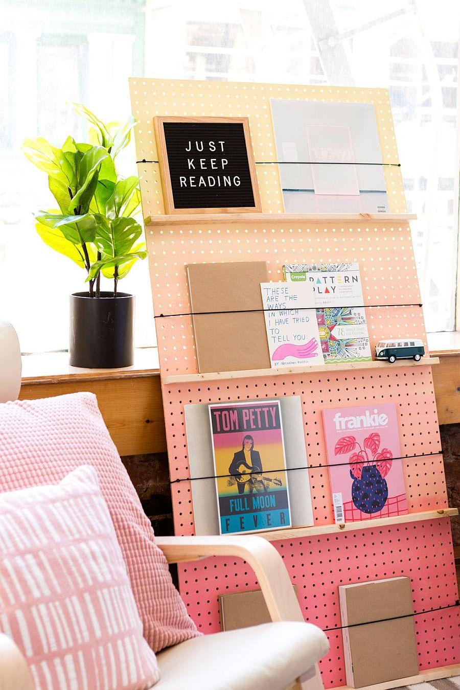 Stylish DIY Ombre Bookshelf