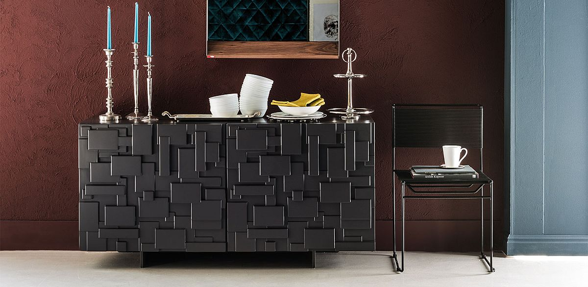 Textured finish of Labyrinth sideboard