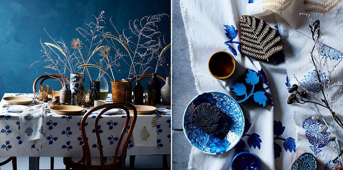 Thanksgiving table idea for those who love shades of blue!