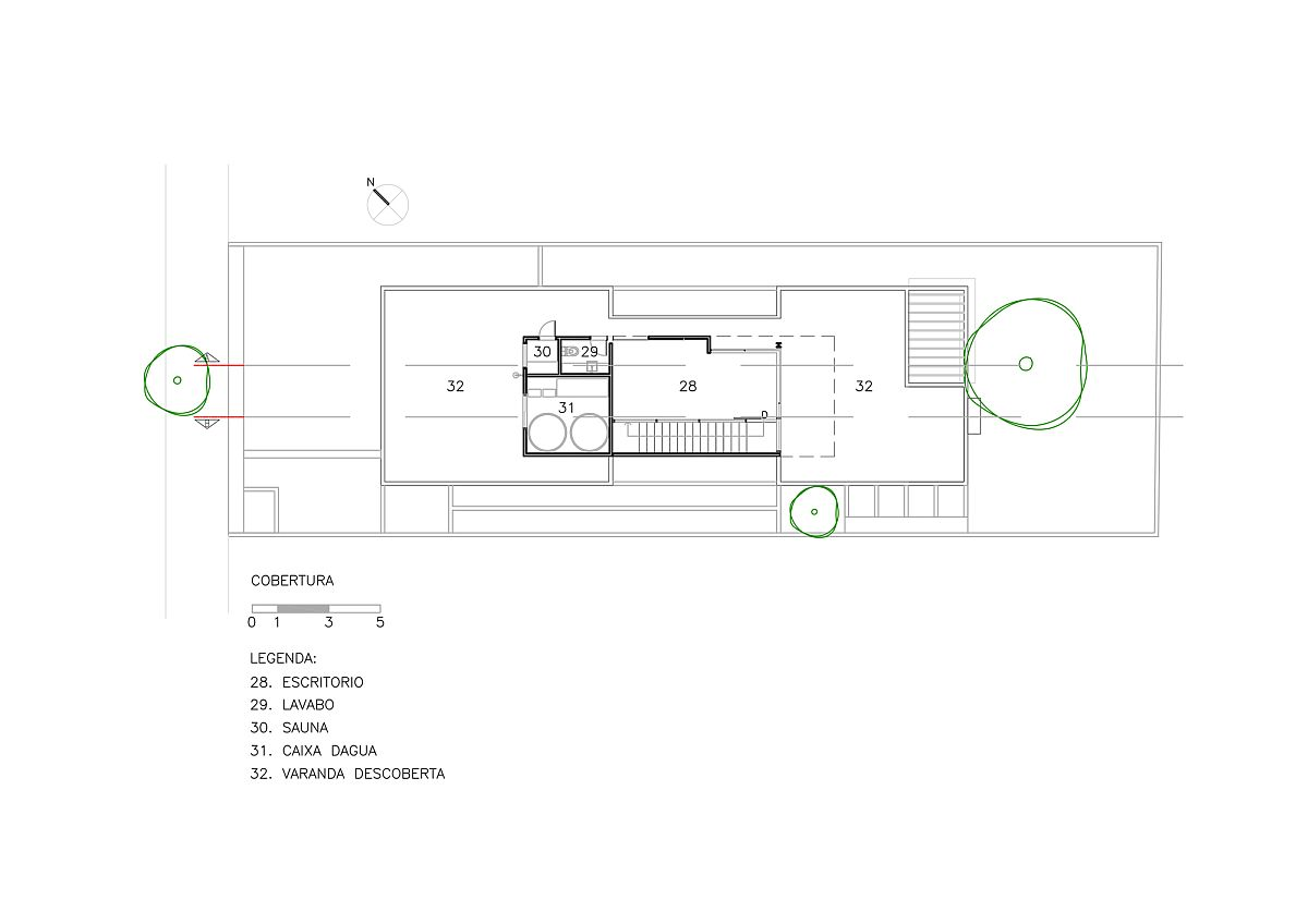 Top level floor plan with home office and Sauna