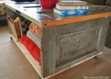 Turning-an-old-door-into-coffee-table-on-wheels-217x155