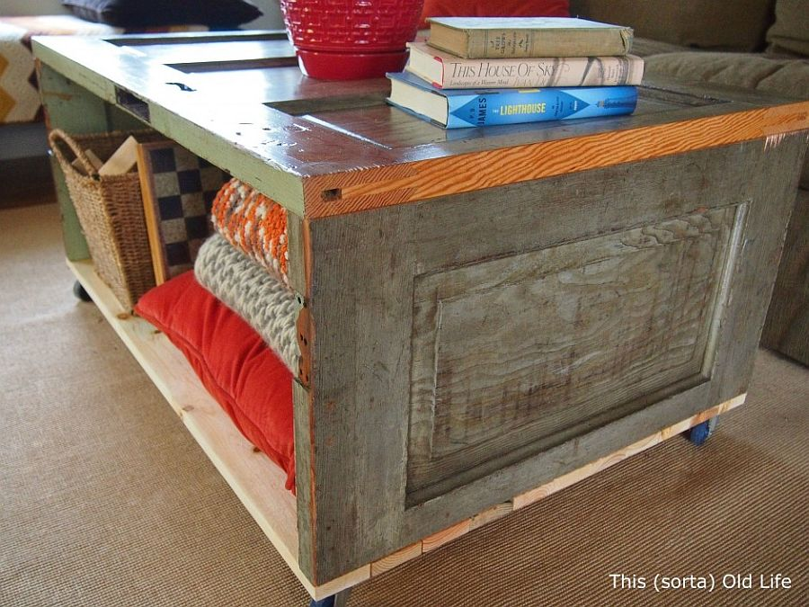 15 diy coffee tables from the rustic to the minimal for How to turn an old door into a table