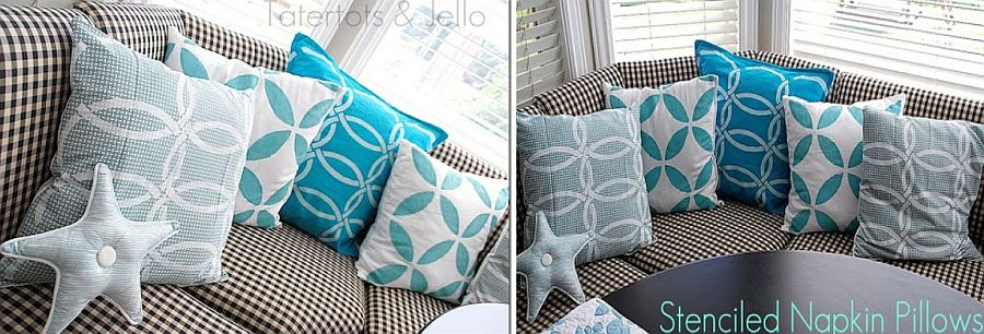 Unique DIY throw pillows with coastal charm