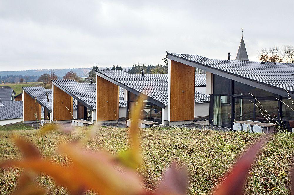 Unique slope of the villas complements the landscape beautifully