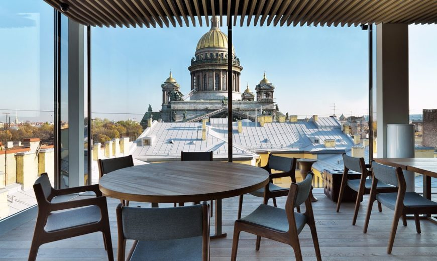 Mansarda Restaurant: Inventive Design Meets Grand St. Isaac's Cathedral Views