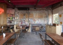 Walls-of-the-interior-with-exposed-brick-wall-sections-and-distressed-finish-217x155