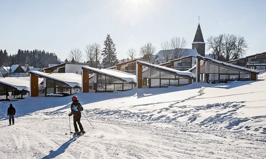 Sloping Roofs and a Modern Silhouette Shape Mesmeric Villas Winterberg