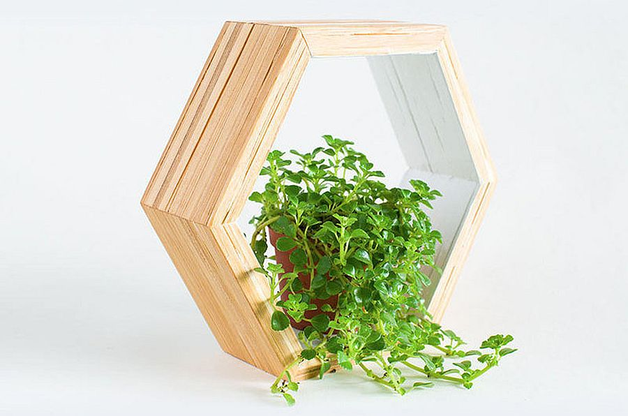 Wood shelves made from recycled chopsticks