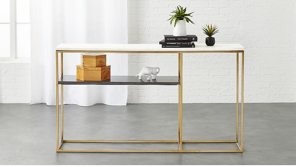 2 tone marble console from CB2