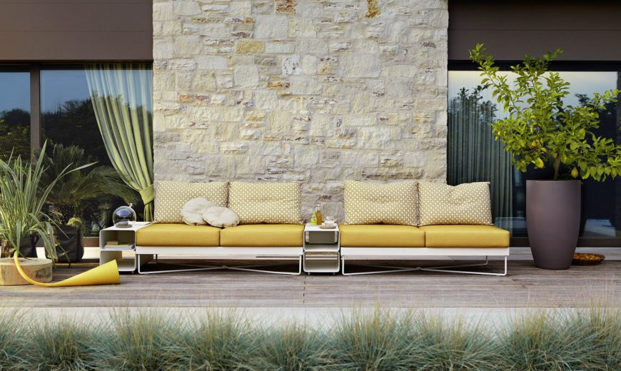 Minimal and Sophisticated Outdoor Furniture Collection with Flexible Form