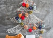 Chalkboard-and-Pom-Pom-Christmas-tree-Idea-217x155