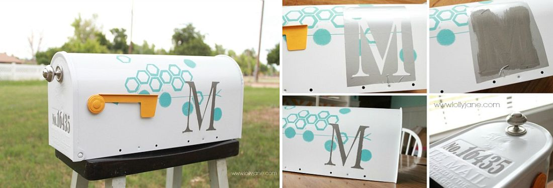 Chic and modern mailbox DIY project