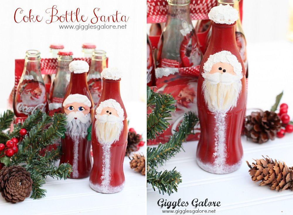 Coke bottle Santa DIY