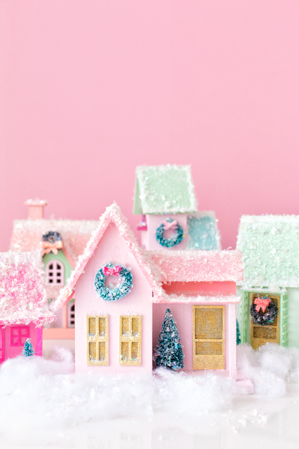 Colorful DIY Christmas village
