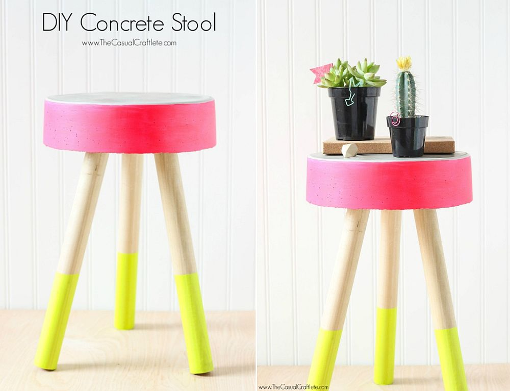 Colorful-and-easy-to-make-DIY-Concrete-Stool
