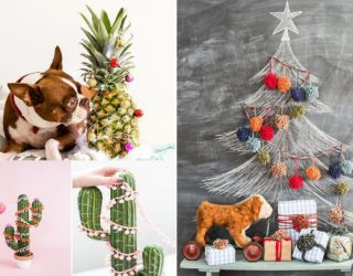 21 Cool Christmas Tree Alternatives Including Trendy Decorated Pineapples!