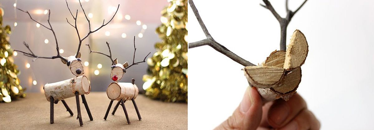 DIY Birch Wood Reindeer