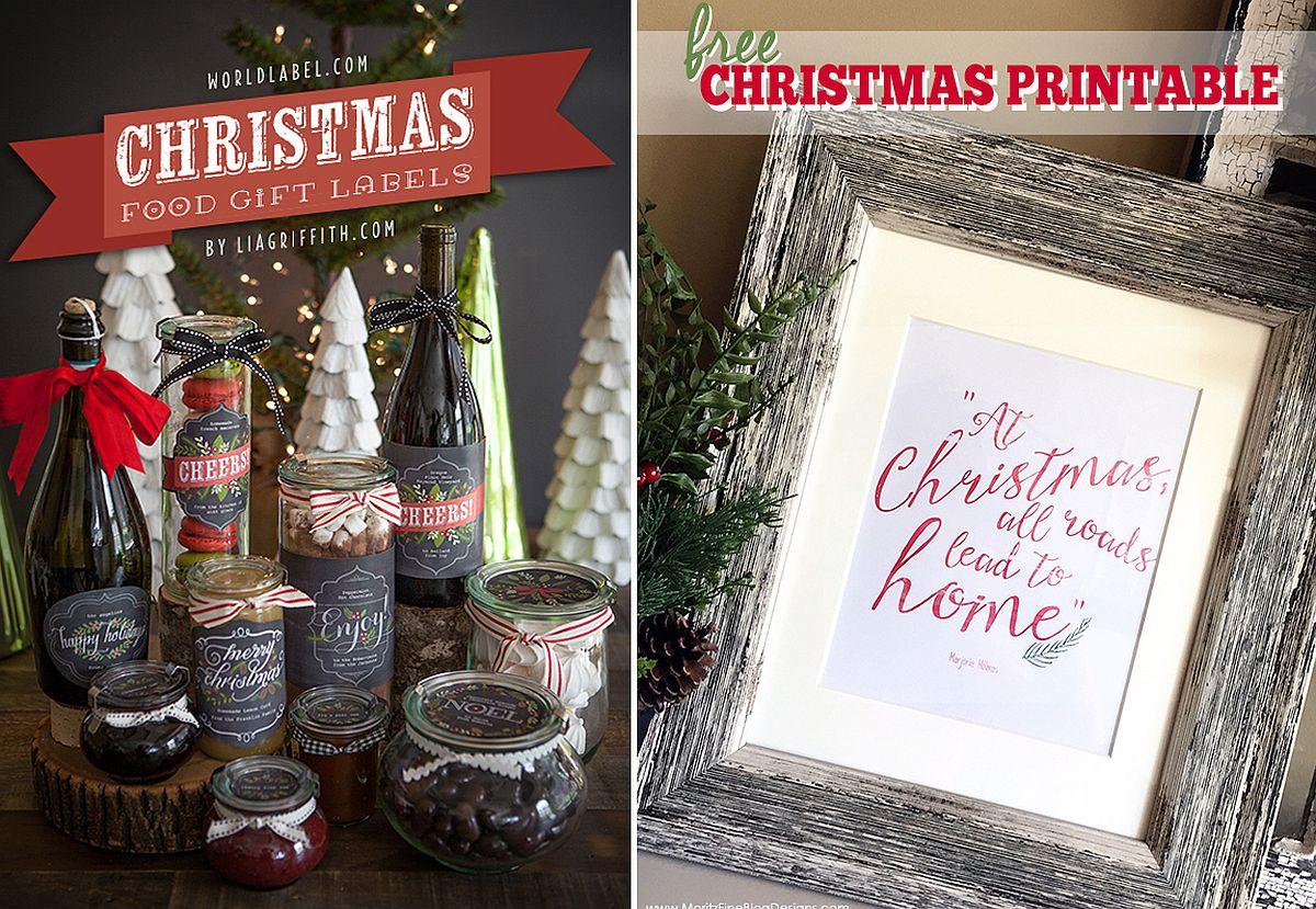 DIY Christmas Wall Decor using Printables