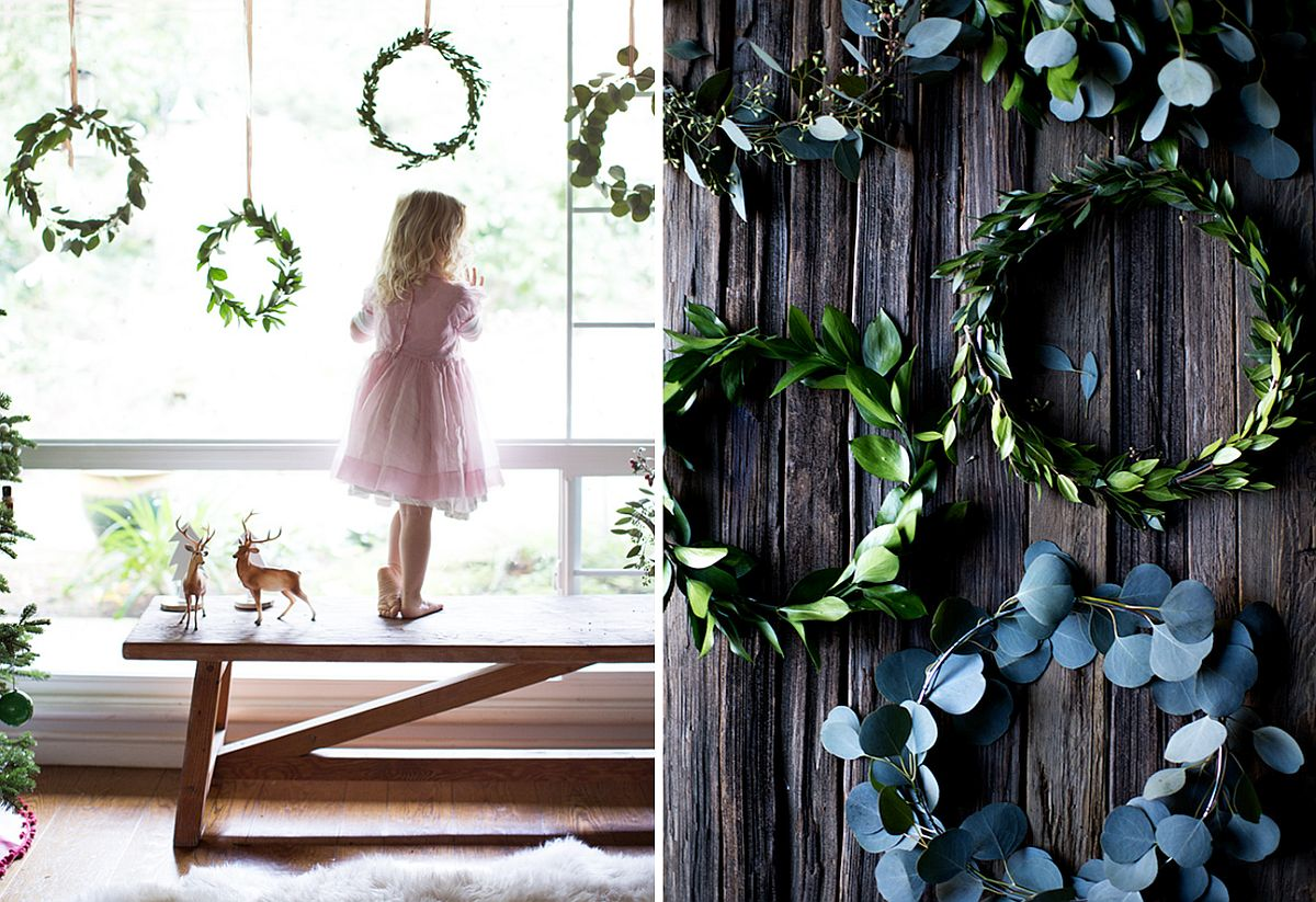 DIY Mini Window Wreaths for the Holidays
