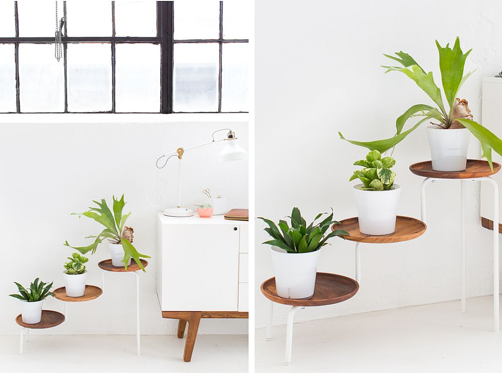 DIY-acacia-wood-plant-stand