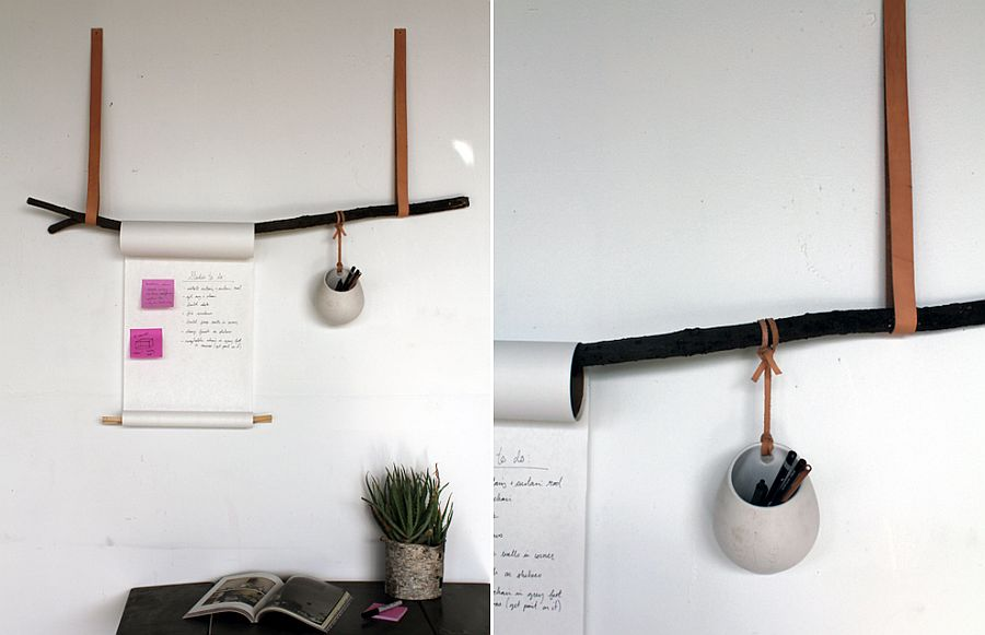 DIY hanging notepad for the modern home office