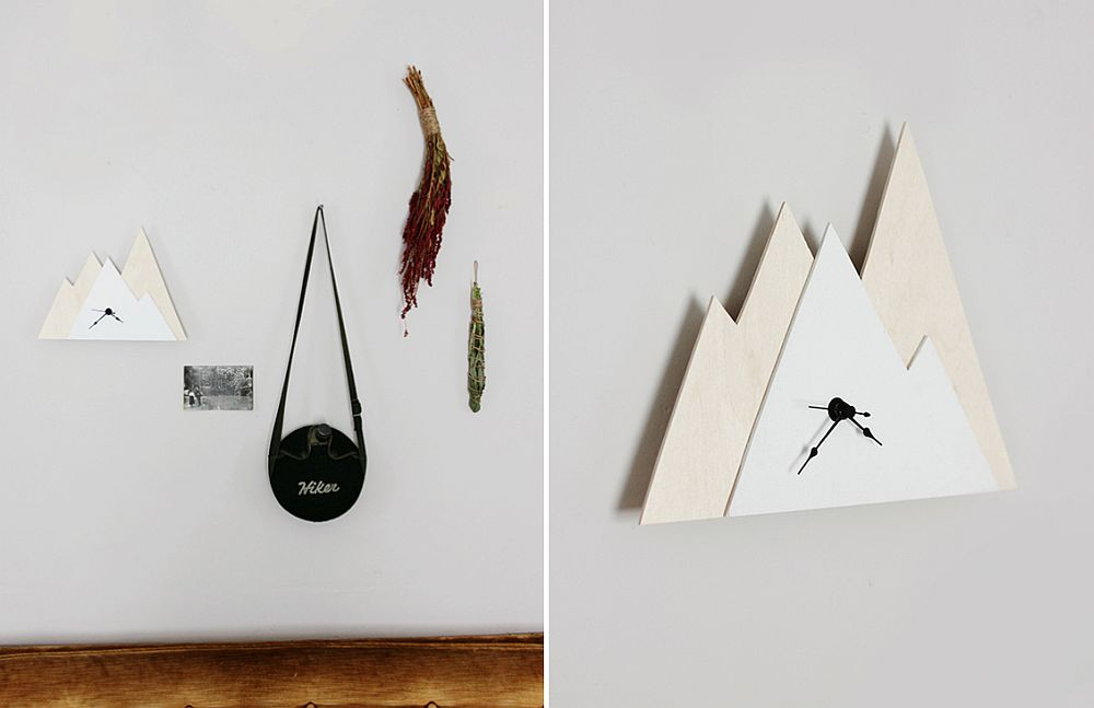 View In Gallery DIY Triangular Wall Clock ...
