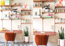 DIY-wall-mounted-desk-and-shelving-with-multi-colored-charm-217x155