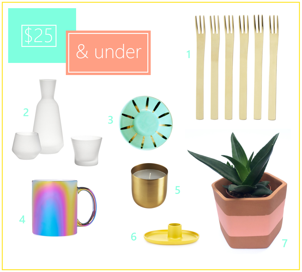 Decoist gift guide $25 and under
