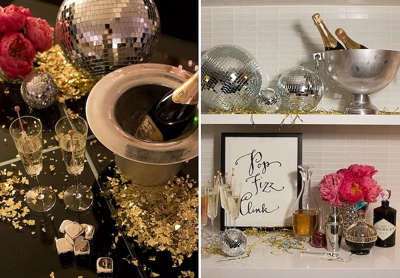 Disco balls used to enliven the party setting