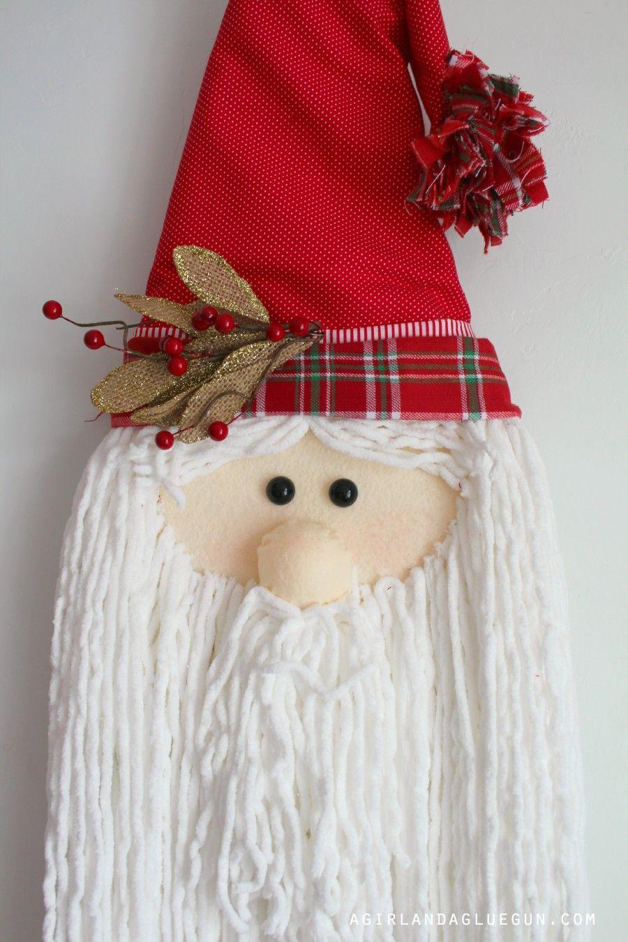 Easy DIY Santa Decoration made from foam