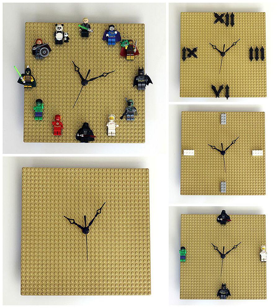 Easy and creative DIY Lego Clock