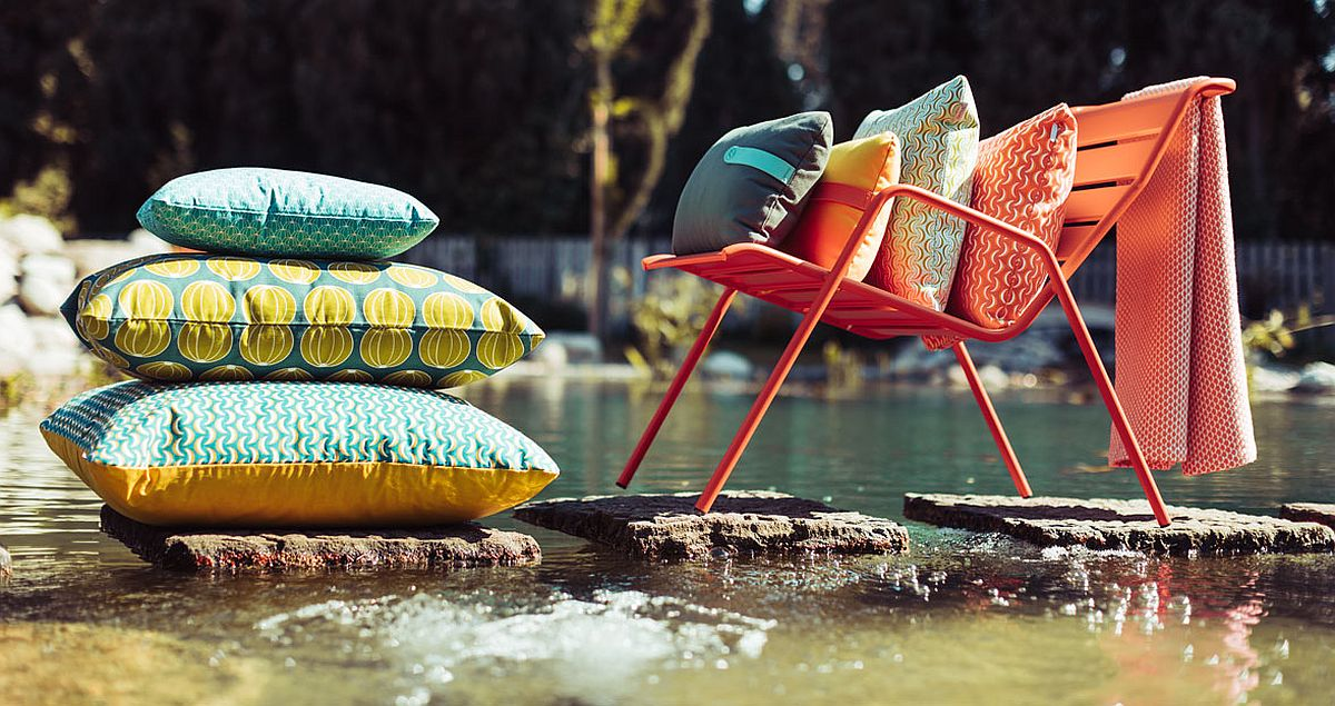 Envie d'Ailleurs collection of outdoor cushions at their colorful best