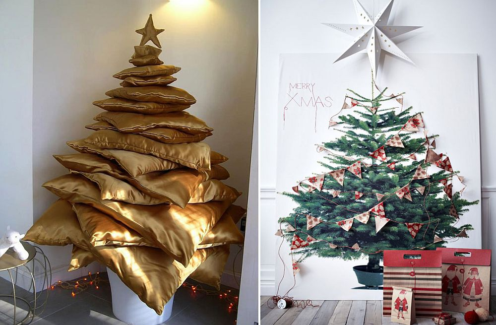 Christmas Tree Alternative.21 Cool Christmas Tree Alternatives Including Trendy
