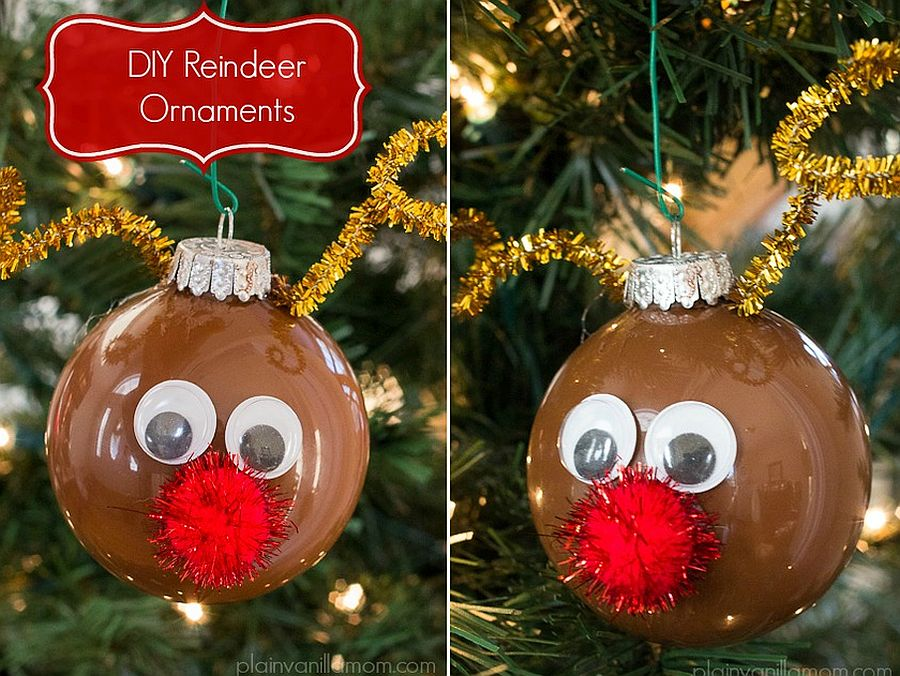 Fabulous DIY Christmas Reindeer Ornaments
