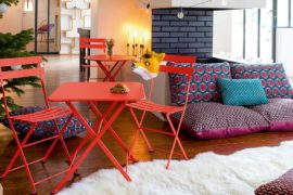 Durable, All-Weather Outdoor Cushions with Fun Fruit-Inspired Pattern