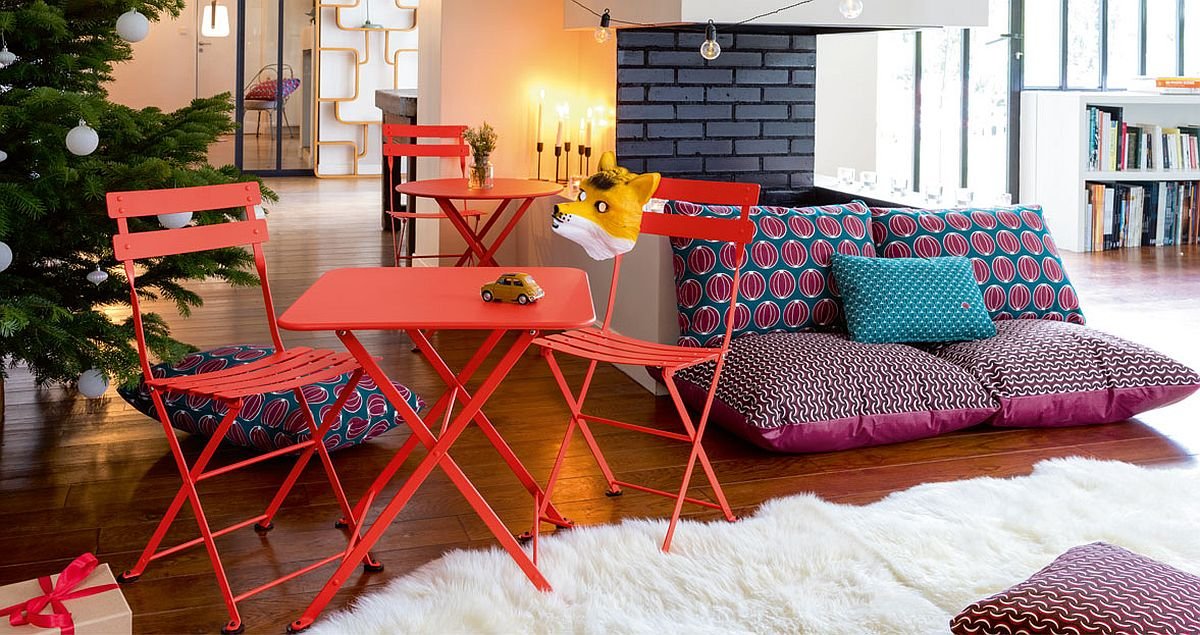 Fabulous and colorful collection of outdoor cushions from Fermob