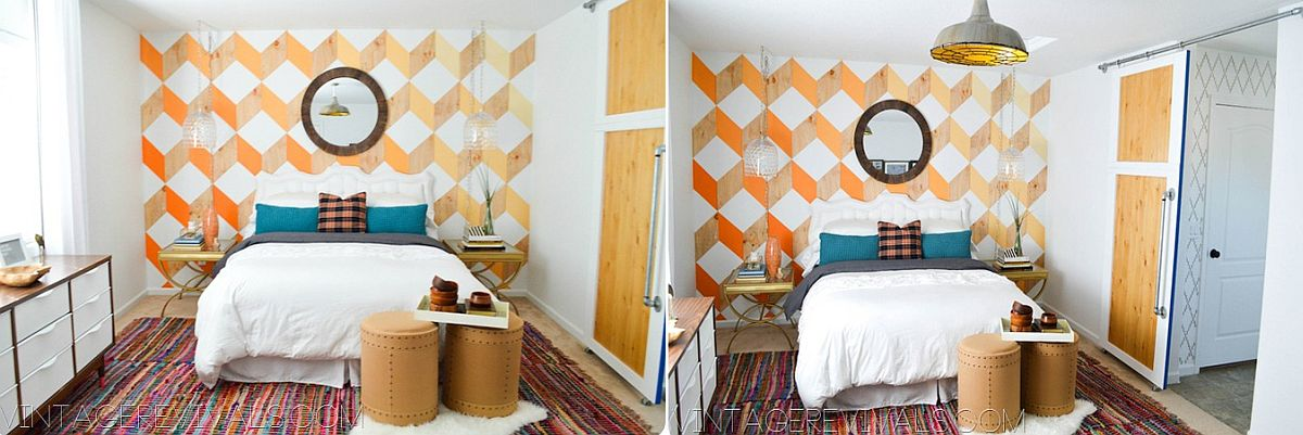 Finding your own pattern for the headboard wall