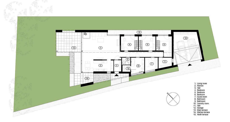 Floor plan of FIL House