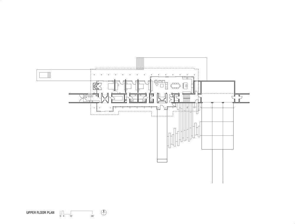 Floor plan of Ridge House in Canada